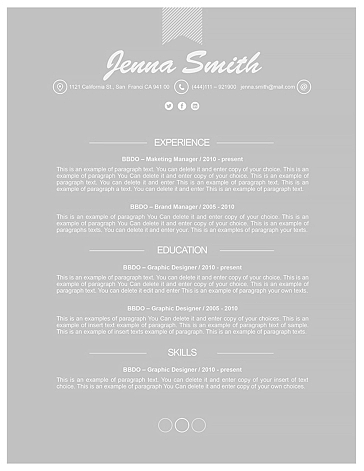 Resume Template 110190