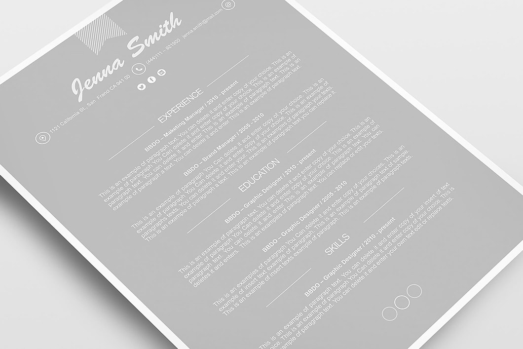 Resume Template 110190 5