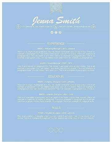 Resume Template 110210