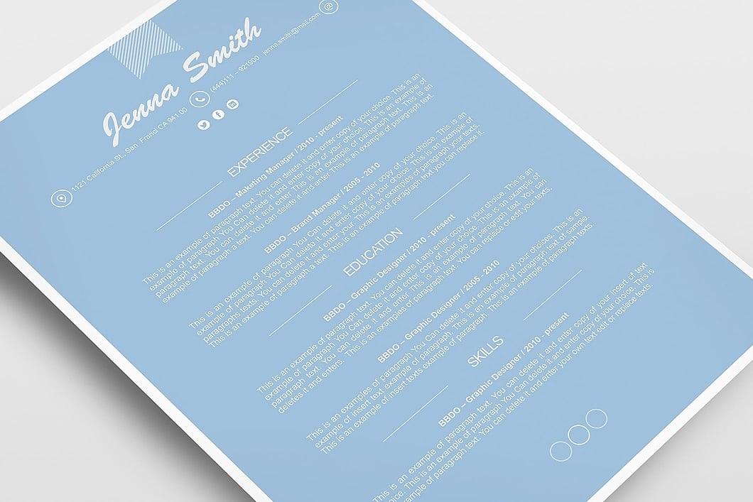 Resume Template 110210 5