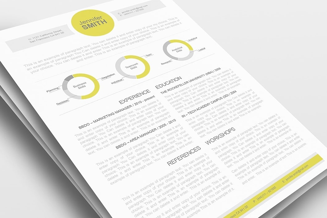 Resume Template 110340 0