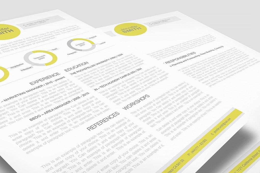 Resume Template 110340 1