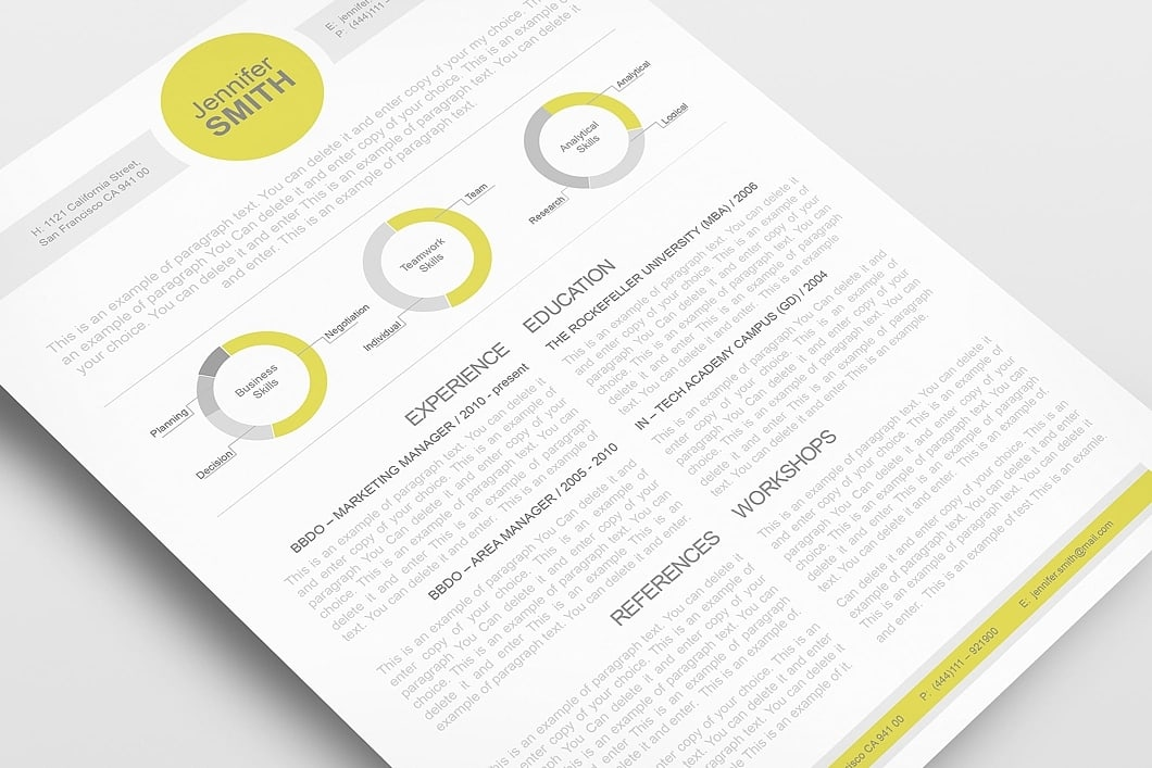Resume Template 110340 3