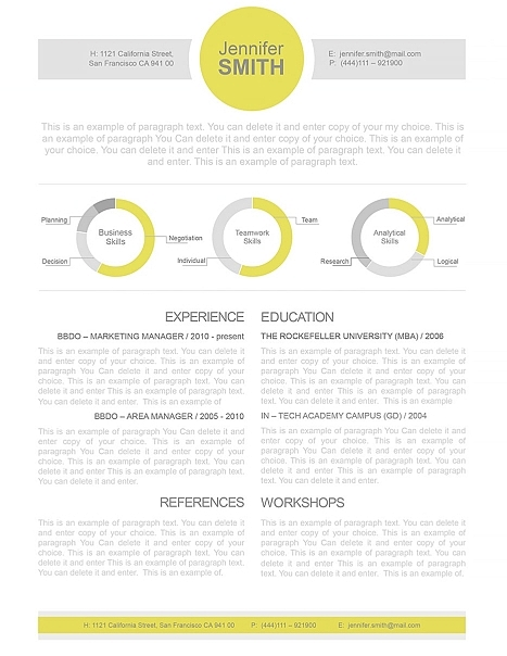 Resume Template 110340