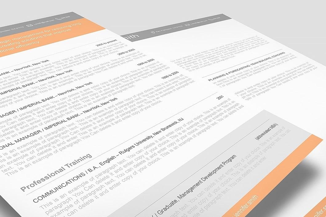 Resume Template 110360 2