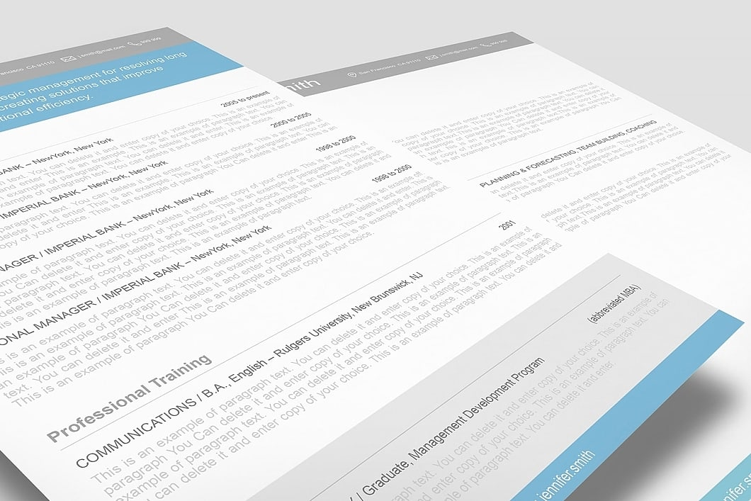 Resume Template 110370 2