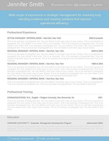 Resume Template 110370