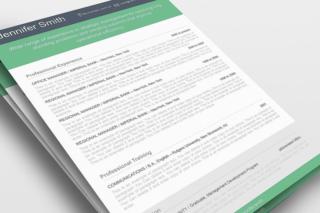 Resume Template 110380 1