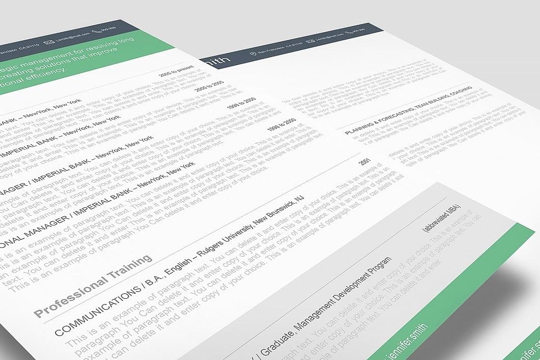 Resume Template 110380 2