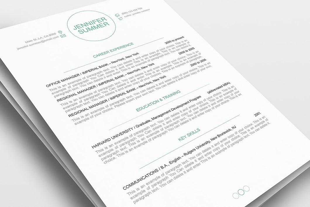 Resume Template 110390 1
