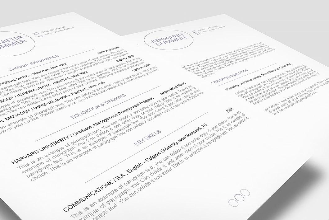 Resume Template 110410 3