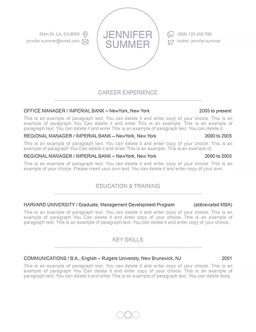Resume Template 110410
