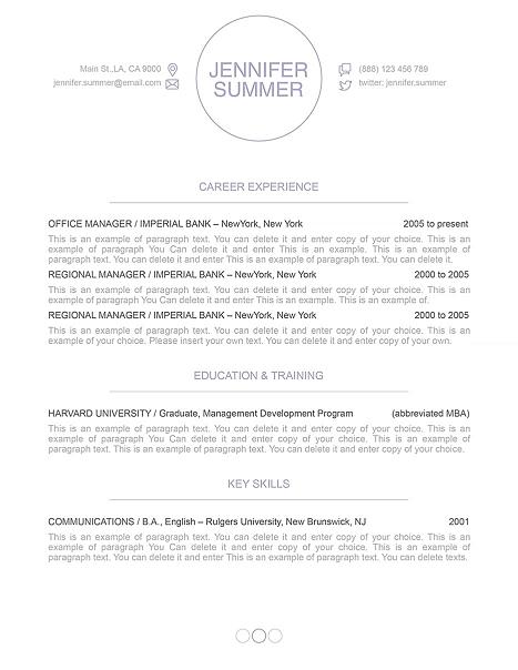Resume Template 110410