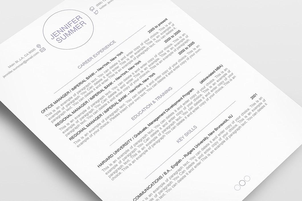 Resume Template 110410 5