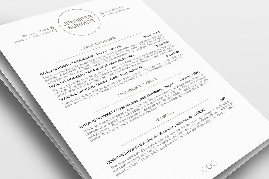 Resume Template 110420 1
