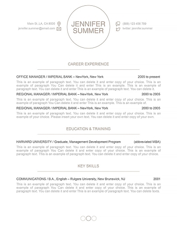 Resume Template 110420