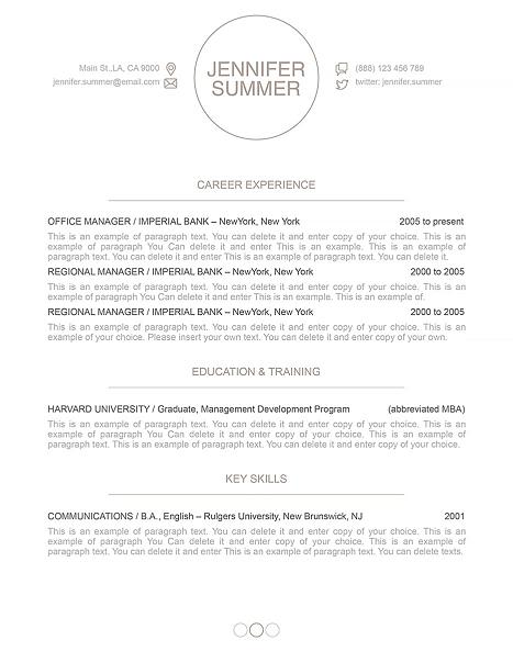 Resume Template 110420