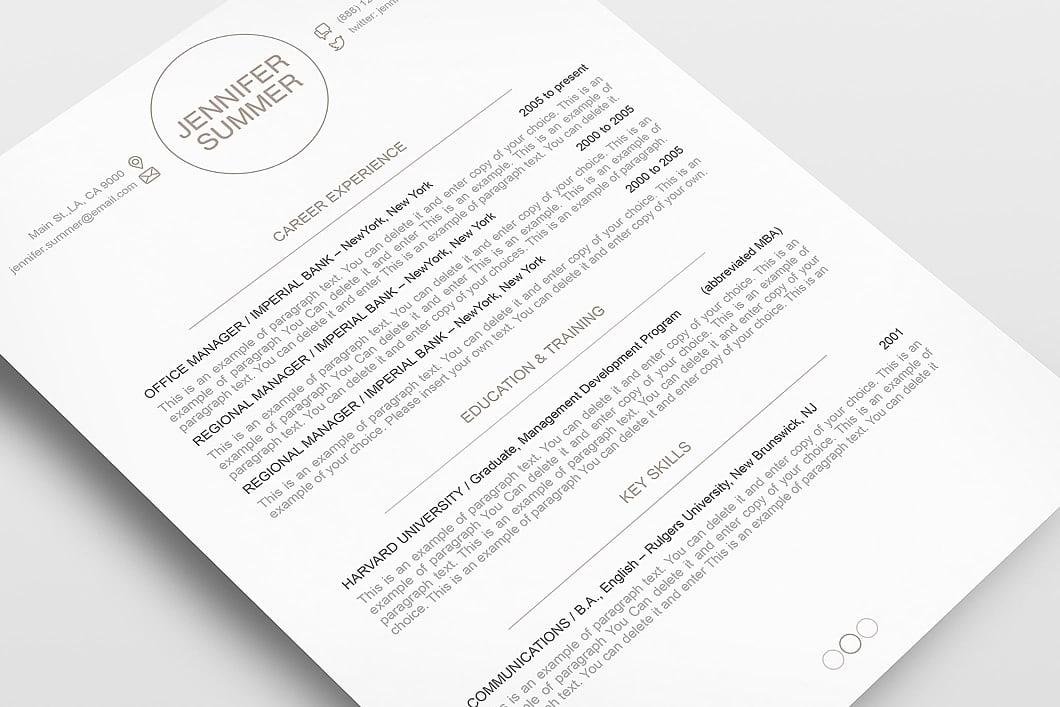 Resume Template 110420 5