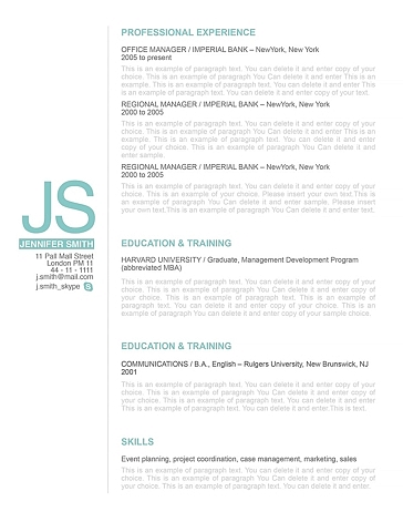 Resume Template 110510