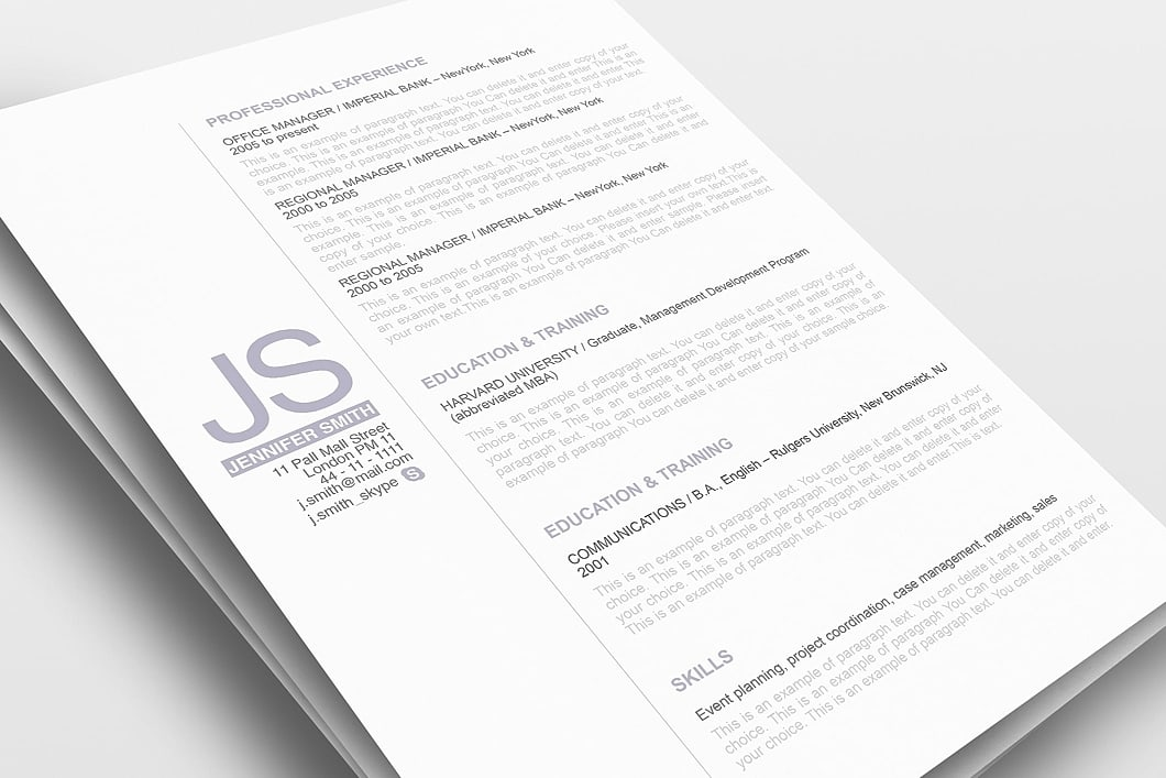 Resume Template 110520 0