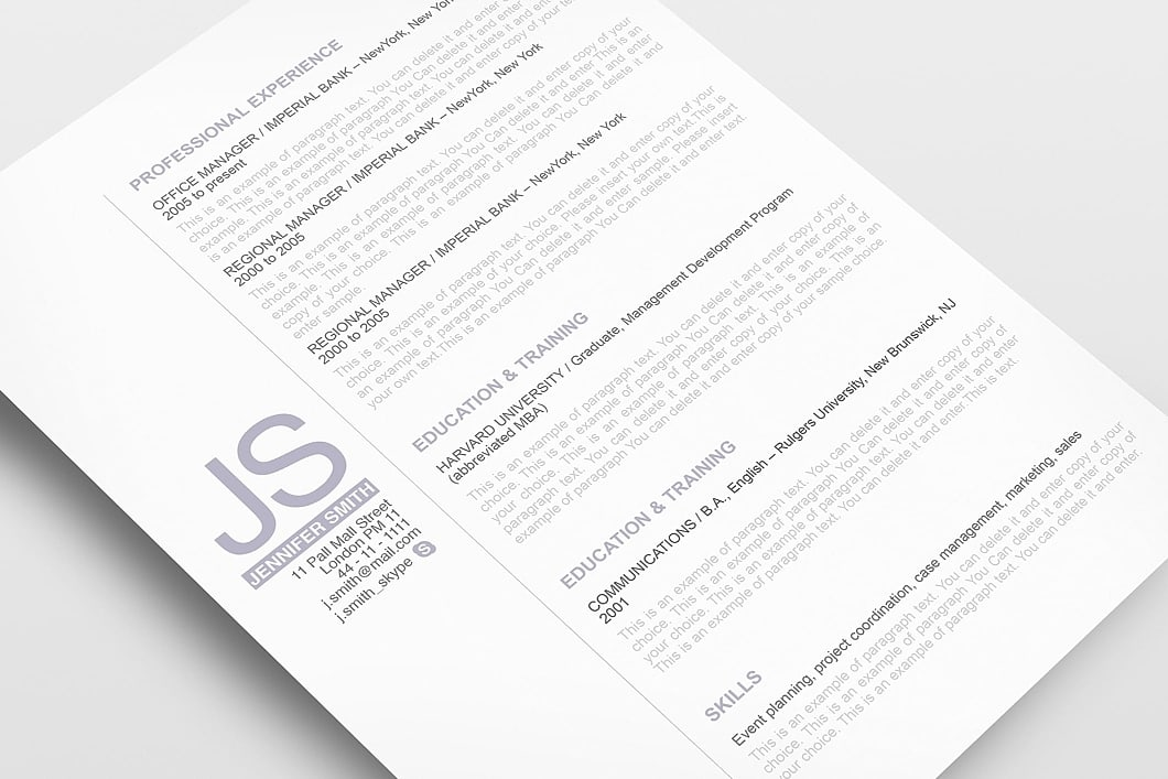 Resume Template 110520 3