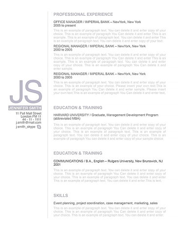 Resume Template 110520