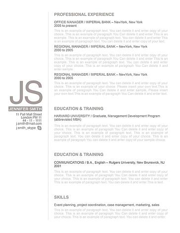 Resume Template 110530