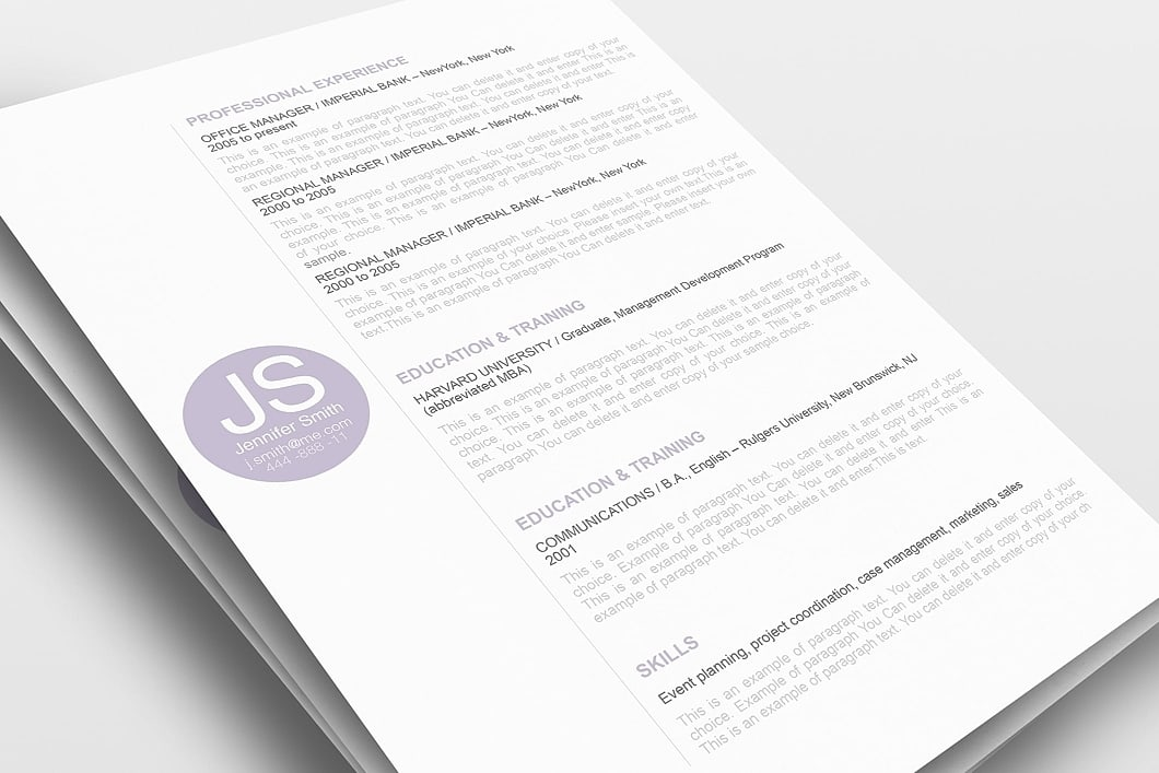 Resume Template 110550 0