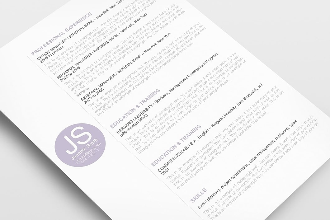 Resume Template 110550 3
