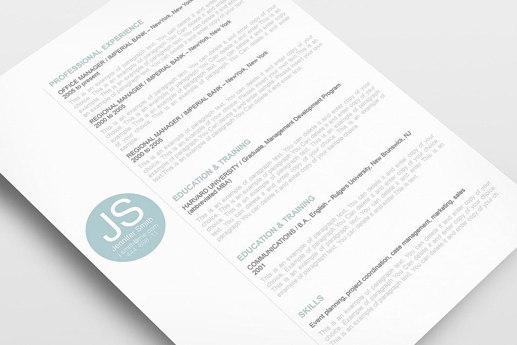 Resume Template 110560 3