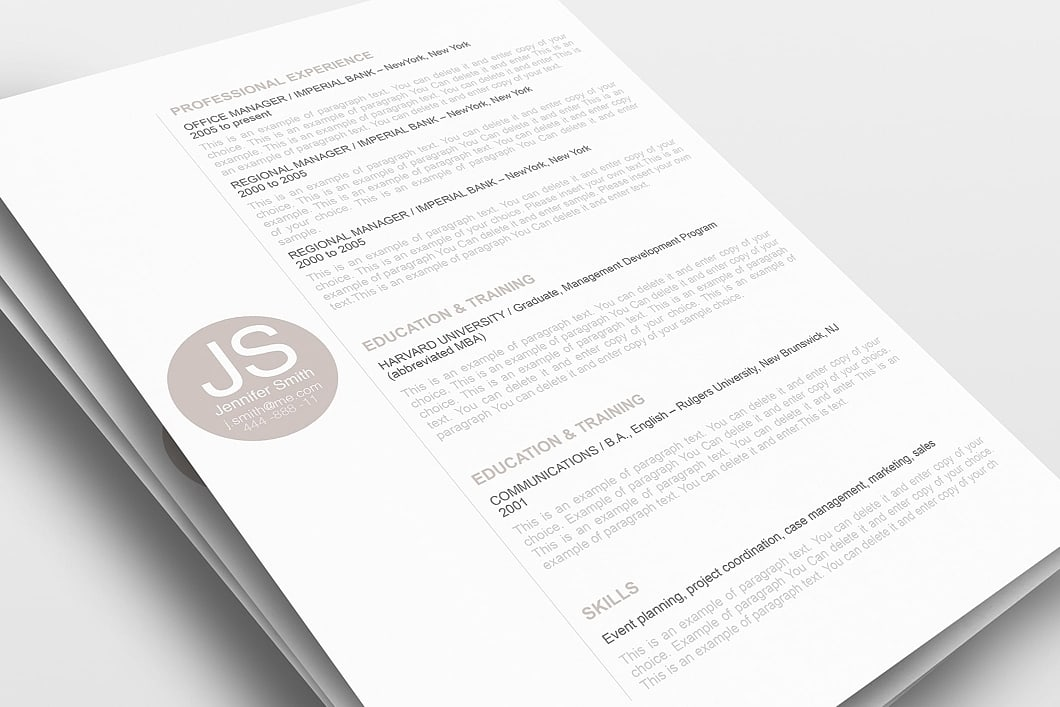 Resume Template 110570 0