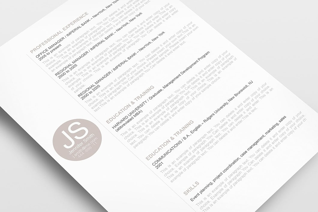 Resume Template 110570 3