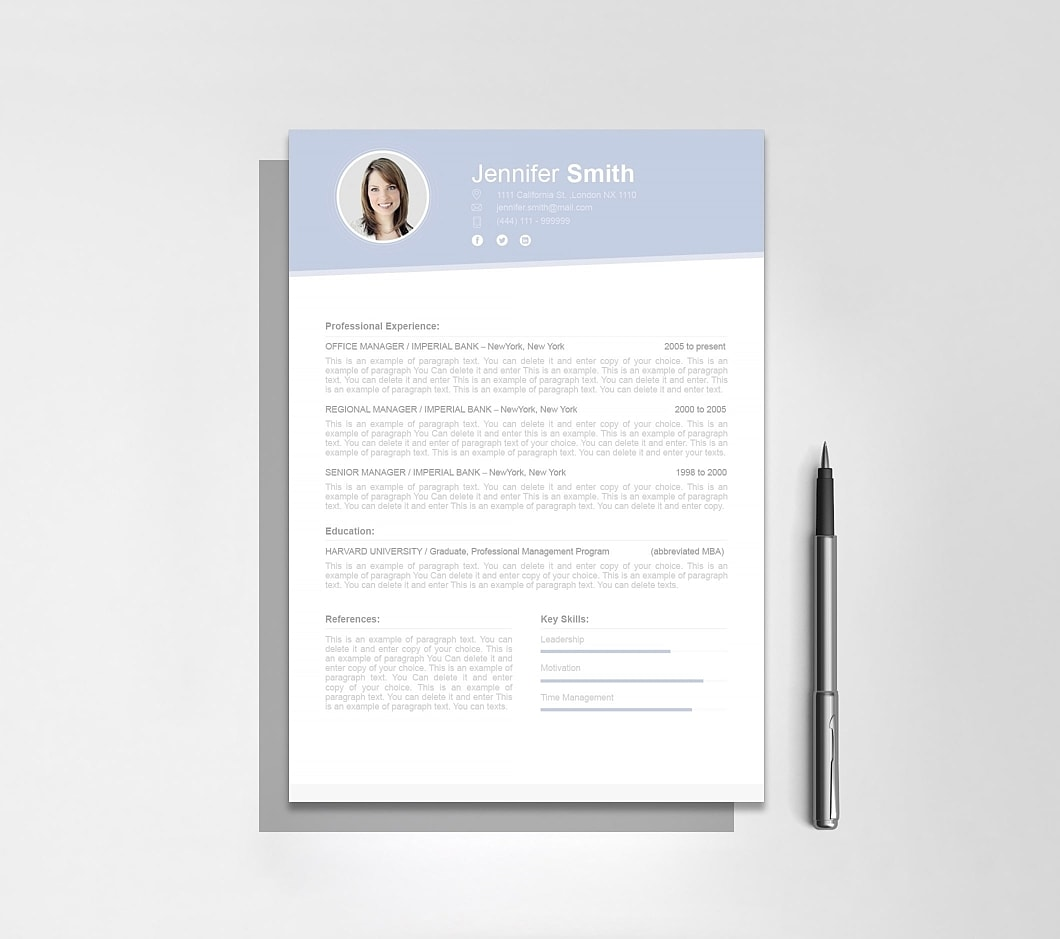 Resume Template 110670 4