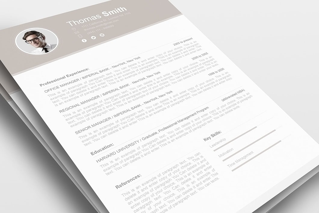 Resume Template 110680 0