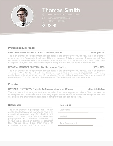 Resume Template 110680