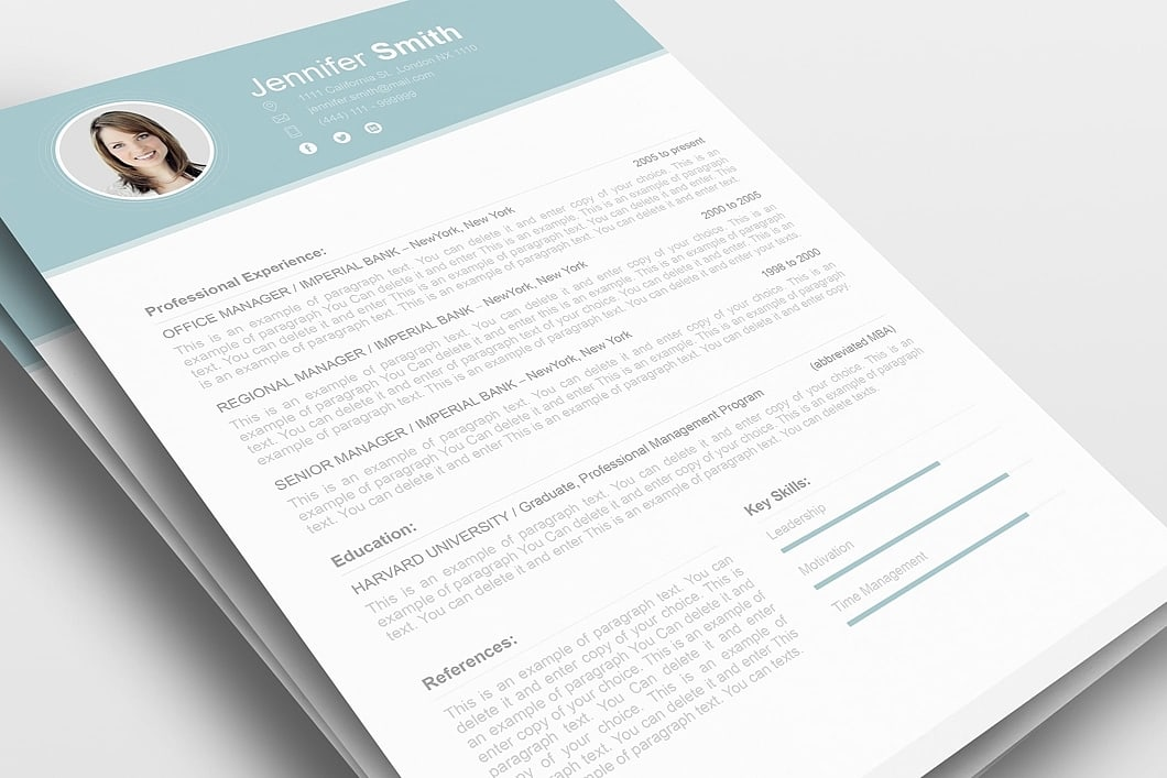 Resume Template 110690 0
