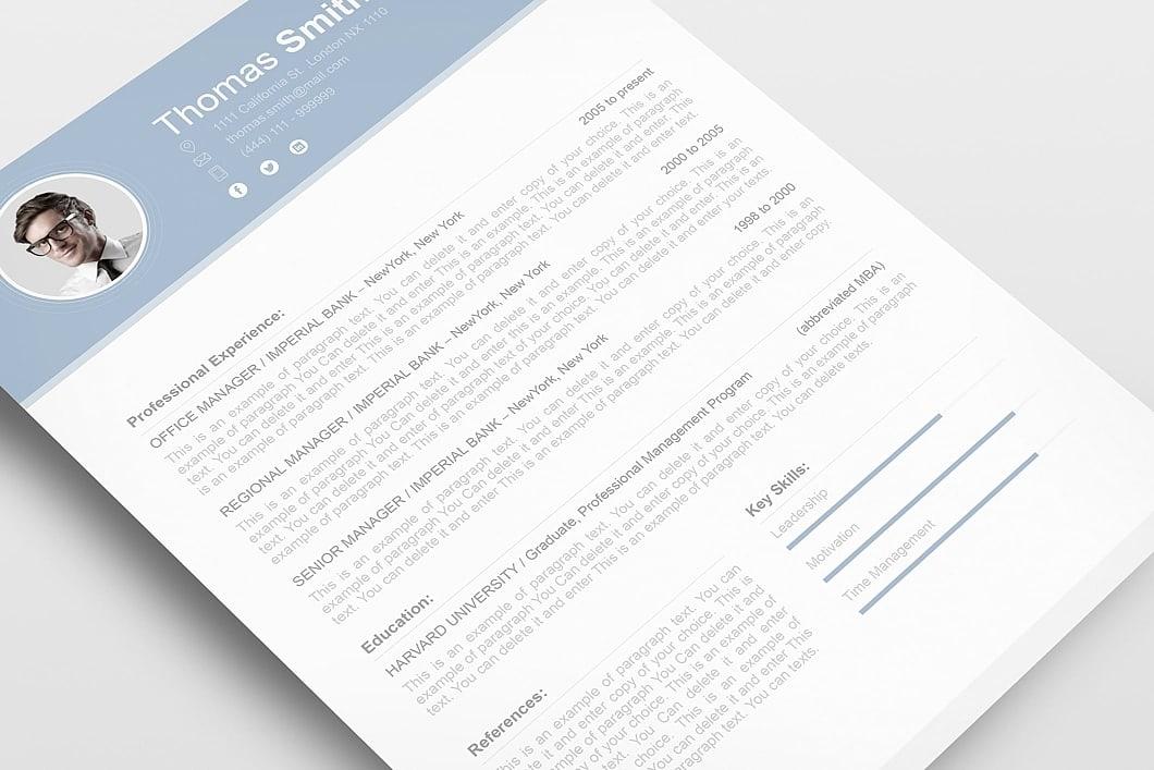 Resume Template 110700 3