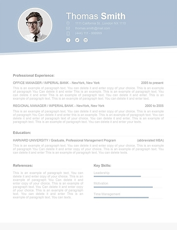 Resume Template 110700