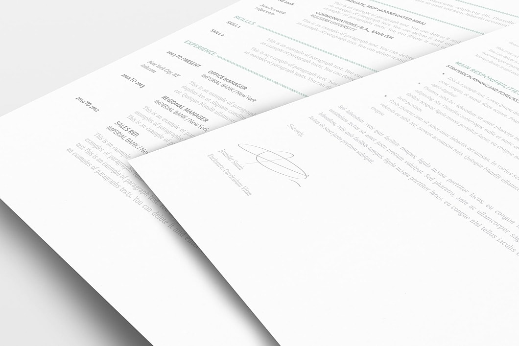 Resume Template 110880 1