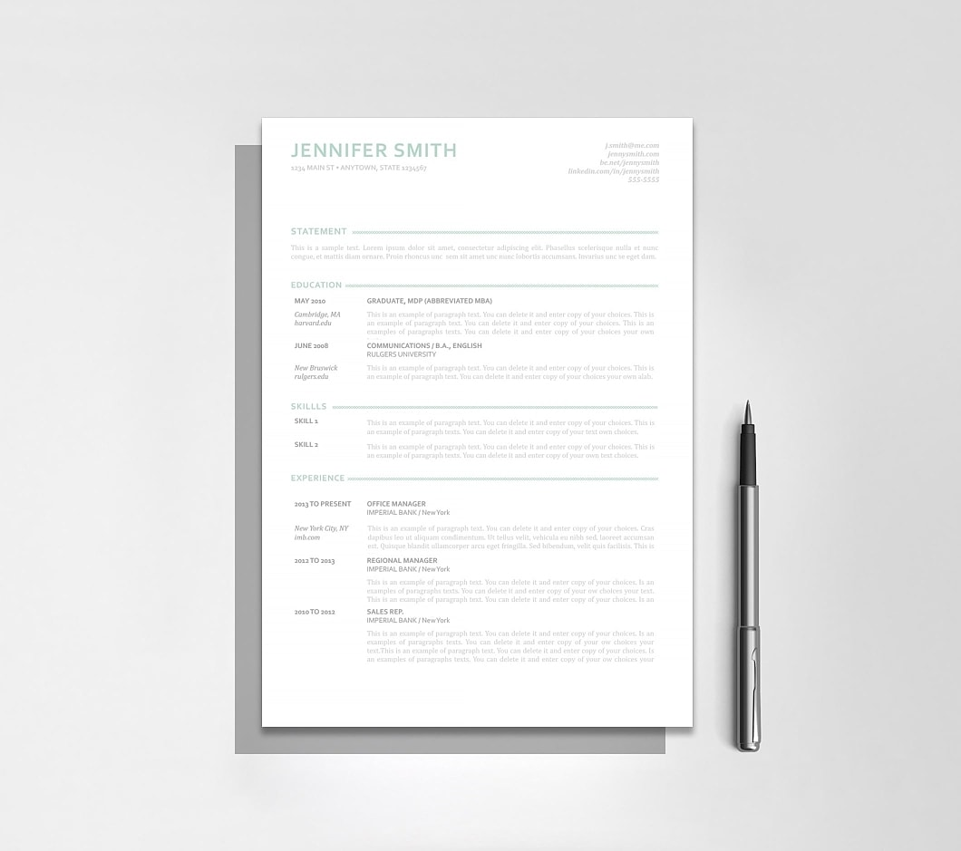 Resume Template 110880 4