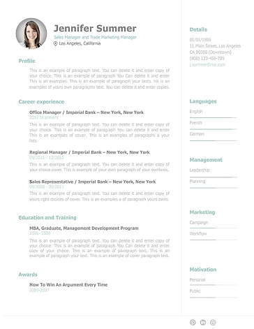 Resume Template 110910
