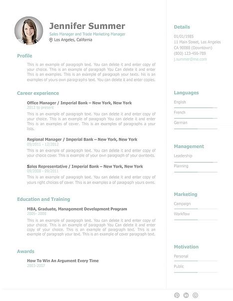 Resume Template 110910