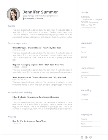 Resume Template 110920