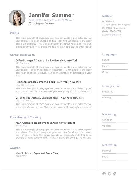 Resume Template 110920