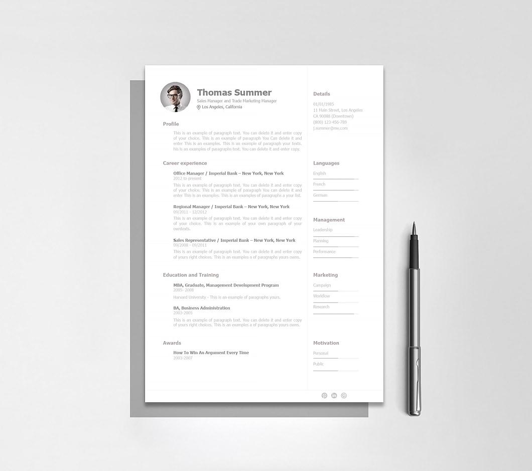 Resume Template 110930 2