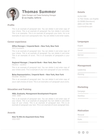 Resume Template 110930