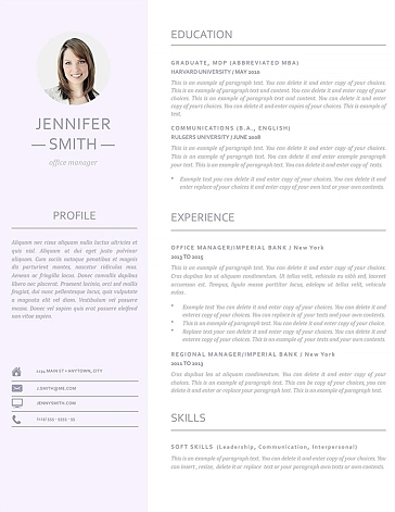 Resume Template 110950