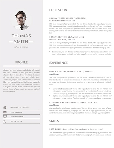 Resume Template 110960