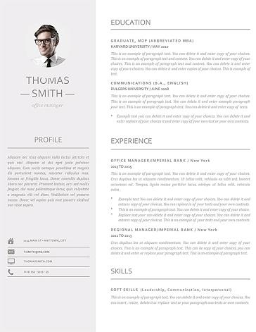 Resume Template 110960