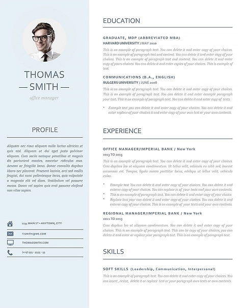 Resume Template 110970